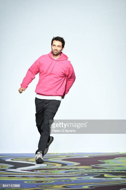 Massimo Giorgetti walks the runway after the Emilio Pucci show during Milan Fashion Week Fall/Winter 2017/18 on February 23 2017 in Milan Italy