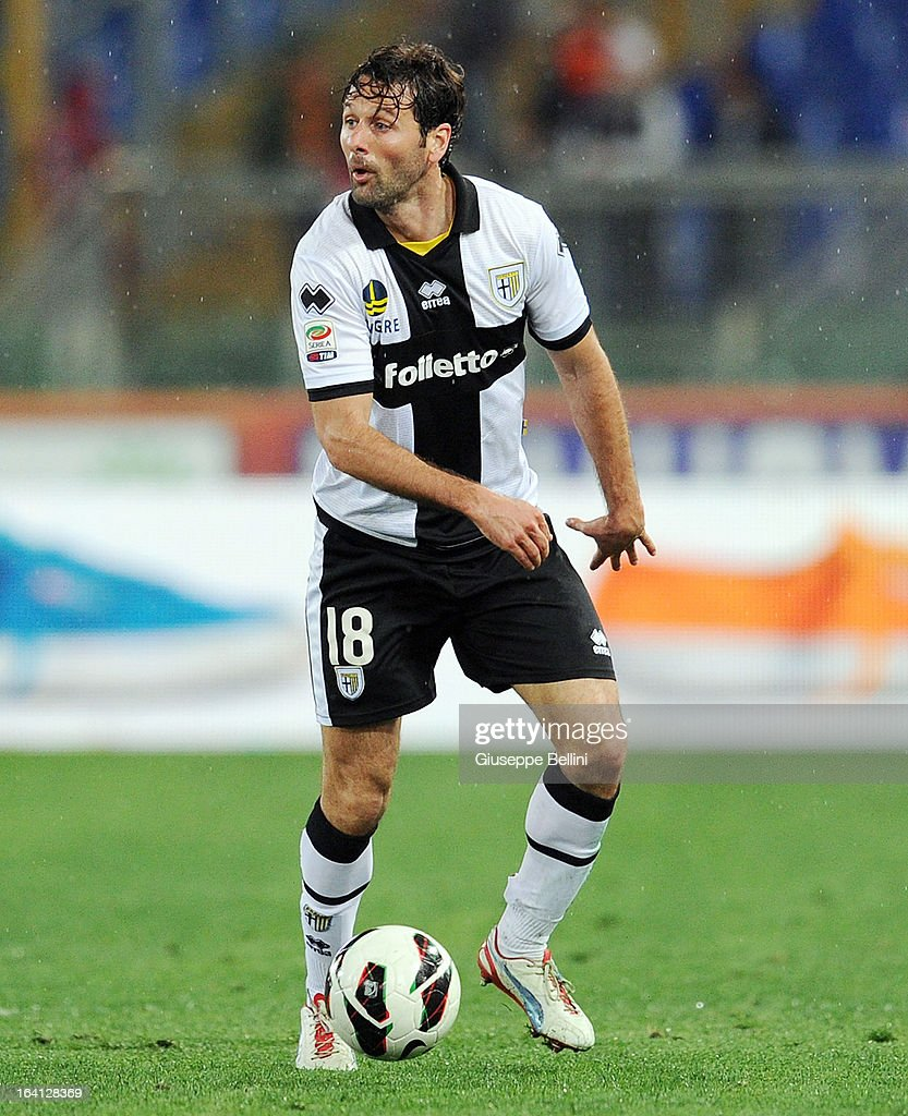 Massimo Gobbi of Parma in action during the Serie A match between AS Roma and Parma FC at Stadio Olimpico on March 17, 2013 in Rome, Italy.