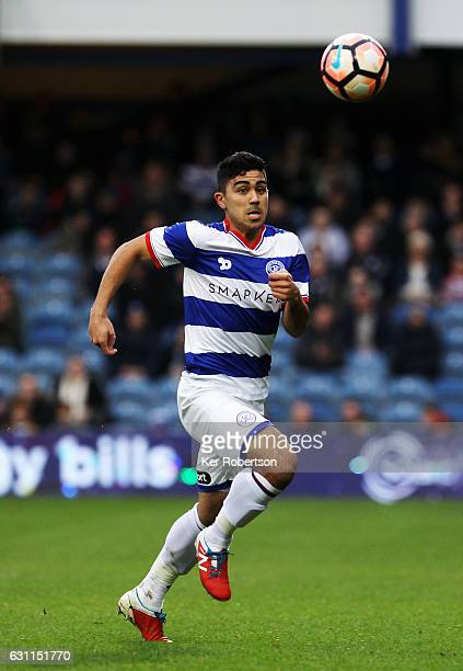Massimo Luongo of Queens Park Rangers runs with the ball during the Emirates FA Cup Third Round match between Queens Park Rangers and Blackburn...