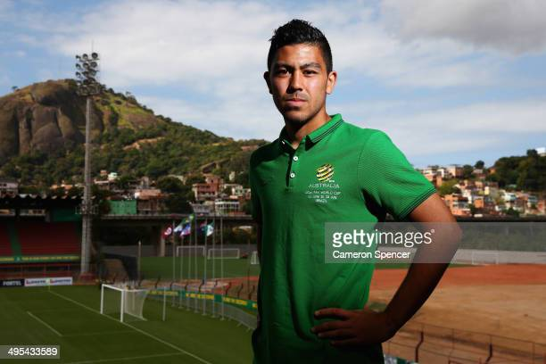Massimo Luongo of the Socceroos poses following an Australian Socceroos press conference discussing the 23man squad for the FIFA 2014 World Cup...