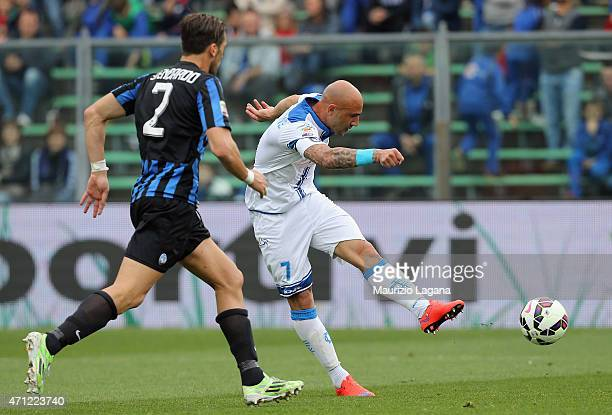 Massimo Maccarone of Empoli during the Serie A match between Atalanta BC and Empoli FC at Stadio Atleti Azzurri d'Italia on April 26 2015 in Bergamo...