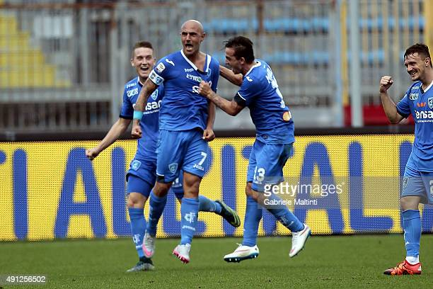 Massimo Maccarone of Empoli FC celebrates after scoring a goal during the Serie A match between Empoli FC and US Sassuolo Calcio at Stadio Carlo...