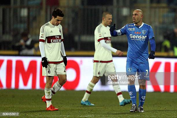 Massimo Maccarone of Empoli FC celebrates after scoring a goal during the Serie A match between Empoli FC and AC Milan at Stadio Carlo Castellani on...