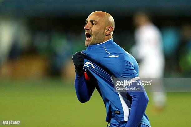 Massimo Maccarone of Empoli FC celebrates after scoring a goal during the Serie A match between Empoli FC and US Citta di Palermo at Stadio Carlo...