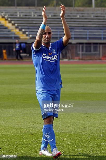 Massimo Maccarone of Empoli FC celebrates the victory after during the Serie A match between Empoli FC and US Sassuolo Calcio at Stadio Carlo...