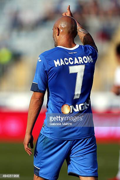 Massimo Maccarone of Empoli FC gestures during the Serie A match between Empoli FC and Genoa CFC at Stadio Carlo Castellani on October 24 2015 in...