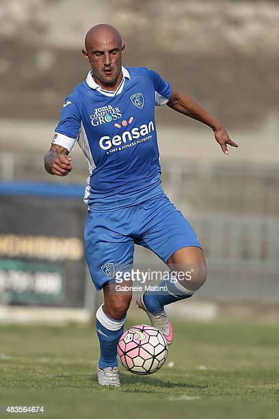 Massimo Maccarone of Empoli FC in action during the preseason friendly match between Empoli FC and Genoa CFC on August 8 2015 in Massa Italy