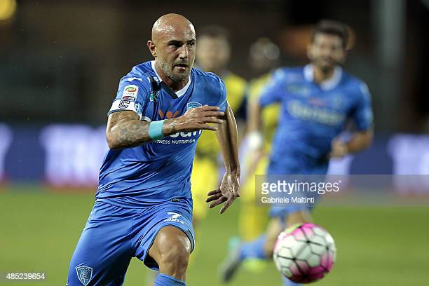 Massimo Maccarone of Empoli FC in action during the Serie A match between Empoli FC and AC Chievo Verona at Stadio Carlo Castellani on August 23 2015...