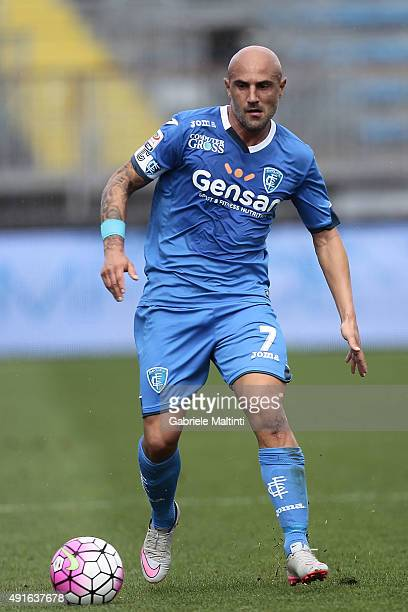 Massimo Maccarone of Empoli FC in action during the Serie A match between Empoli FC and US Sassuolo Calcio at Stadio Carlo Castellani on October 4...