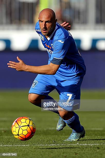 Massimo Maccarone of Empoli FC in action during the Serie A match between Empoli FC and Genoa CFC at Stadio Carlo Castellani on October 24 2015 in...