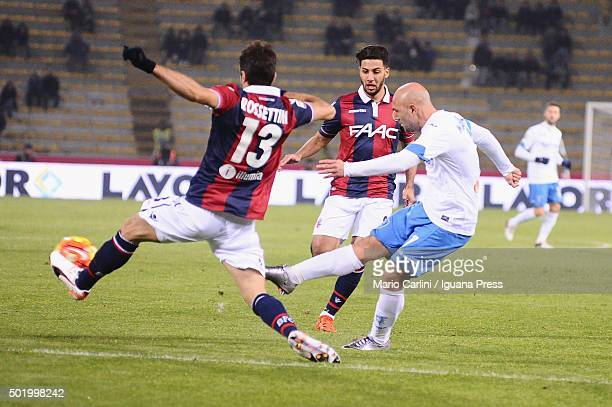 Massimo Maccarone of Empoli FC in action during the Serie A match between Bologna FC and Empoli FC at Stadio Renato Dall'Ara on December 19 2015 in...