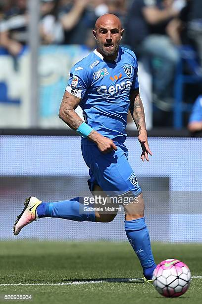 Massimo Maccarone of Empoli FC in action during the Serie A match between Empoli FC and Bologna FC at Stadio Carlo Castellani on May 1 2016 in Empoli...