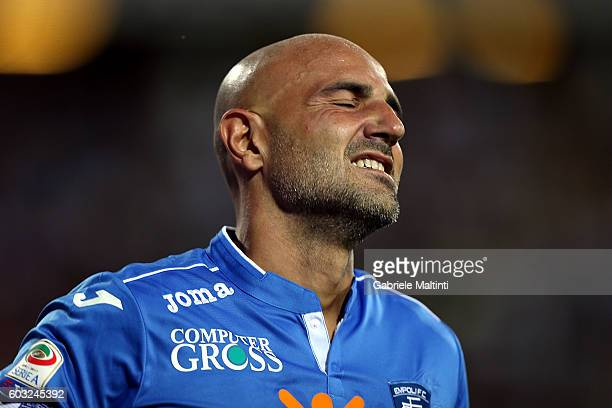 Massimo Maccarone of Empoli FC in action during the Serie A match between Empoli FC and FC Crotone at Stadio Carlo Castellani on September 12 2016 in...