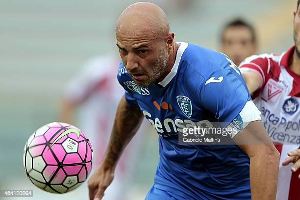 Massimo Maccarone of Empoli FC in action during the TIM Cup match between Empoli FC and Vicenza Calcio at Stadio Carlo Castellani on August 15 2015...