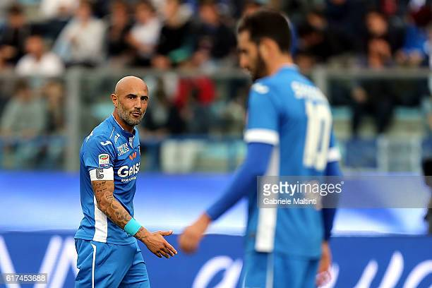 Massimo Maccarone of Empoli FC looks on during the Serie A match between Empoli FC and AC ChievoVerona at Stadio Carlo Castellani on October 23 2016...