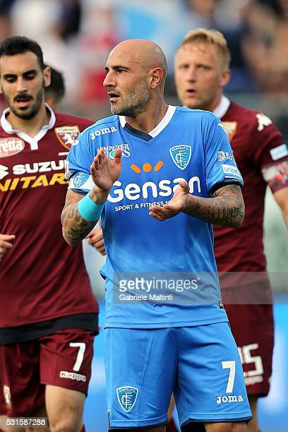 Massimo Maccarone of Empoli Fc reacts during the Serie A match between Empoli FC and Torino FC at Stadio Carlo Castellani on May 15 2016 in Empoli...