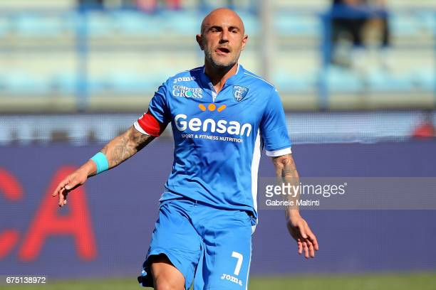 Massimo Maccarone of Empoli FC reacts during the Serie A match between Empoli FC and US Sassuolo at Stadio Carlo Castellani on April 30 2017 in...