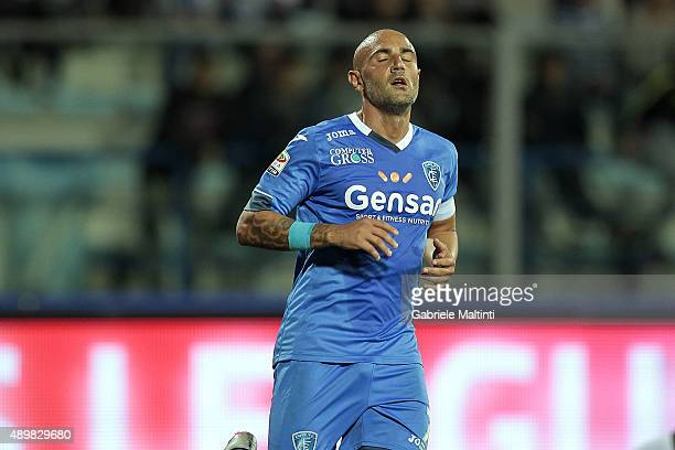 Massimo Maccarone of Empoli FC shows his dejection during the Serie A match between Empoli FC and Atalanta BC at Stadio Carlo Castellani on September...