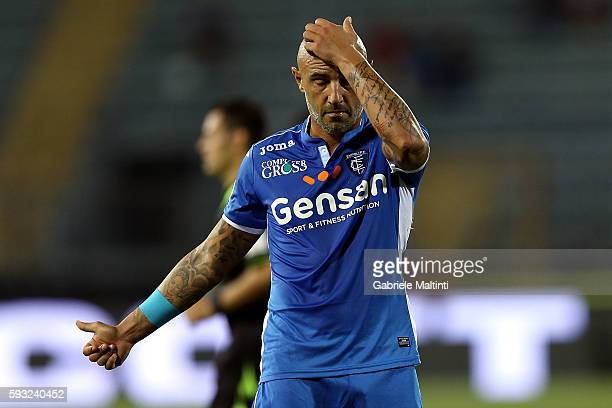 Massimo Maccarone of Empoli FC shows his dejection during the Serie A match between Empoli FC and UC Sampdoria at Stadio Carlo Castellani on August...