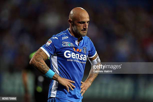 Massimo Maccarone of Empoli FC shows his dejection during the Serie A match between Empoli FC and FC Internazionale at Stadio Carlo Castellani on...