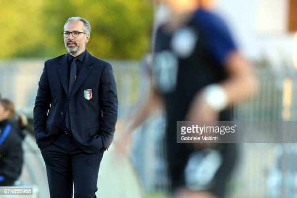 Massimo Migliorini manager of Italy U16 women's looks on during Italy U16 v USA U16 2nd Female Tournament 'Delle Nazioni' Final during the 2nd Female...