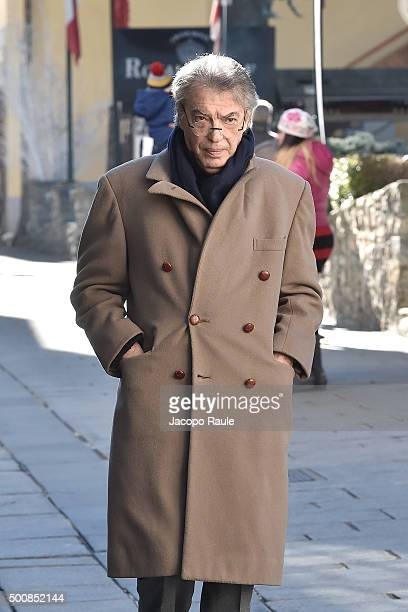 Massimo Moratti is seen during the 25th Courmayeur Noir In Festival on December 10 2015 in Courmayeur Italy