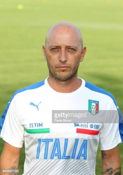 Massimo Mutarelli vice head coach of Italy U21 poses during the Italy U21 training session on August 29 2017 in Rome Italy