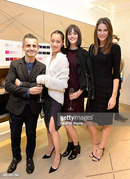 Massimo Nicosia Yi Zhou Sam Rollinson and Charlotte Wiggins attend the Deconstructed Project with a private dinner hosted by Caroline Issa David...