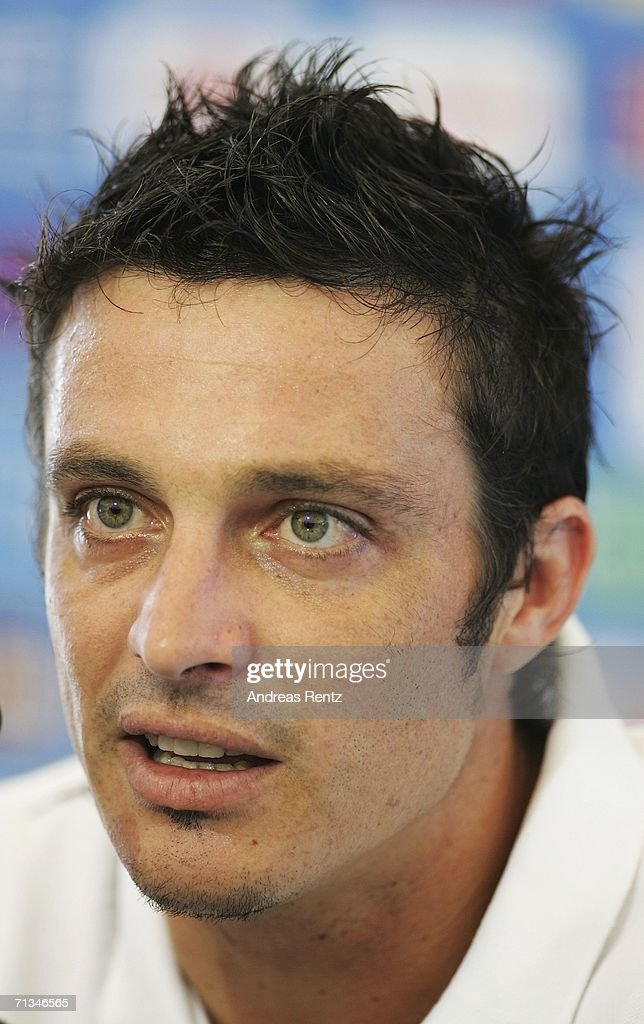 Massimo Oddo attends an Italy National Football Team press conference on July 01, 2006 in Duisburg, Germany.