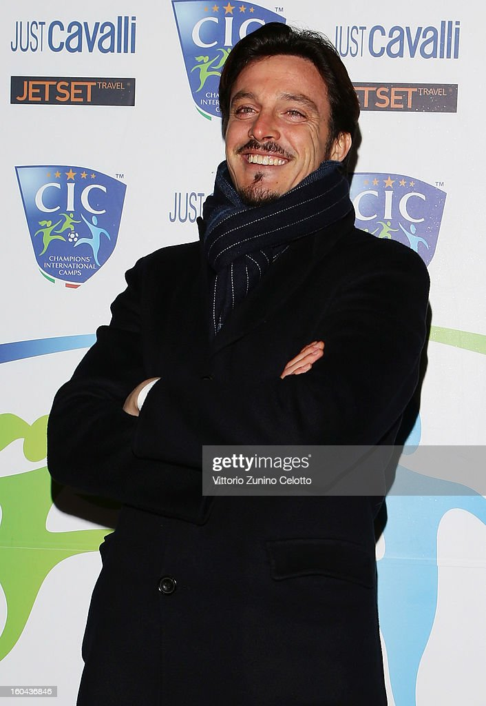 Massimo Oddo attends C.I.C. Champions' International Camps photocall at Just Cavalli Cafe on January 31, 2013 in Milan, Italy.