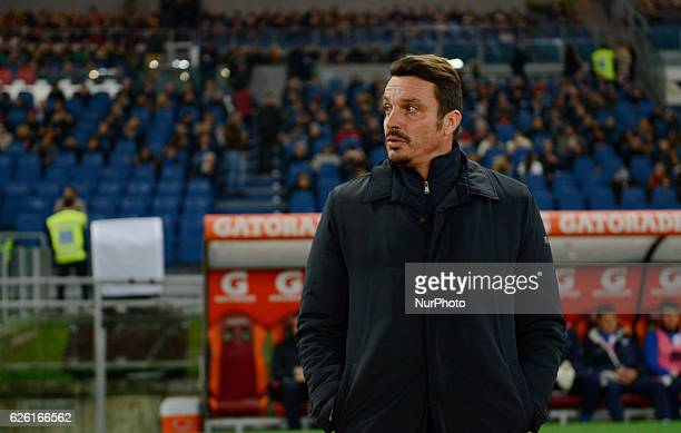 Massimo Oddo during the Italian Serie A football match between AS Roma and Pescara at the Olympic Stadium in Rome on november 27 2016