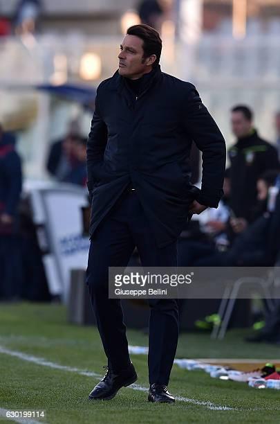 Massimo Oddo head coach of Pescara Calcio during the Serie A match between Pescara Calcio and Bologna FC at Adriatico Stadium on December 18 2016 in...