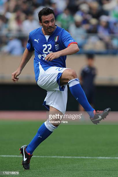 Massimo Oddo in action during the JLeague Legend and Glorie Azzurre match at the National Stadium on June 9 2013 in Tokyo Japan