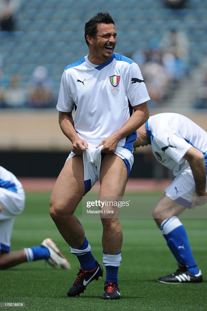 Massimo Oddo looks on prior to the J.League Legend and Glorie Azzurre match at the National Stadium on June 9, 2013 in Tokyo, Japan.