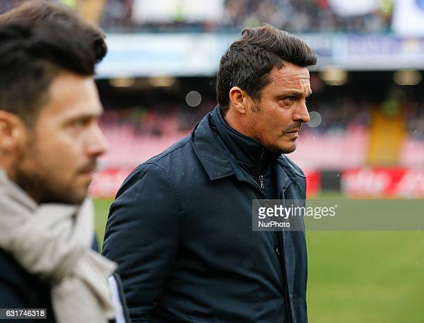 Massimo Oddo Pescara coach after the Italian Serie A match between SSC Napoli and Pescara at San Paolo Stadium in Naples Italy Jan 152017
