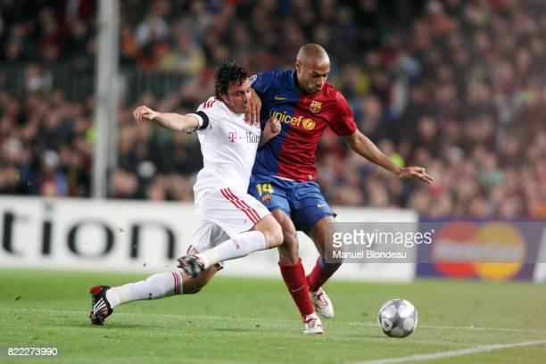 Massimo ODDO / Thierry HENRY Barcelone / Bayern Munich 1/4 Finale Champions League 2008/2009 Nou Camp Barcelone