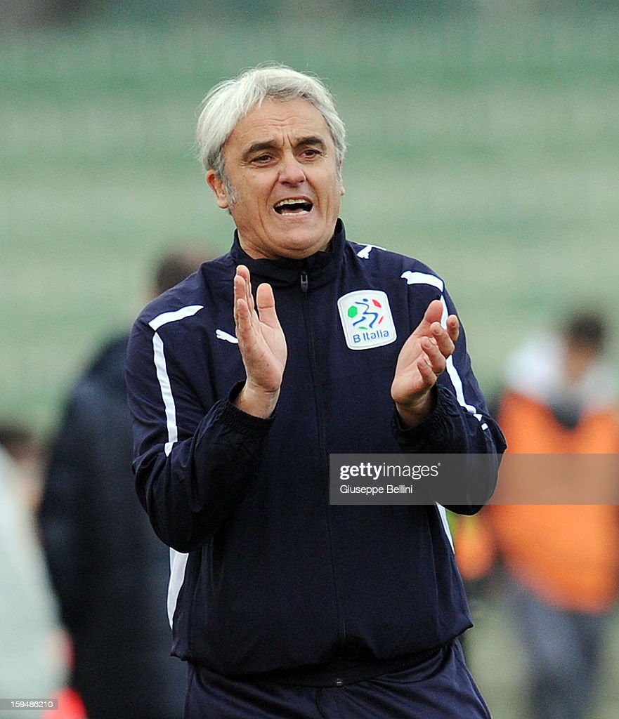 Massimo Piscedda head coach of Rappresentativa Serie B during the friendly match between Italy U21 and Rappresentativa Serie B at Stadio Libero Liberati on December 18, 2012 in Terni, Italy.