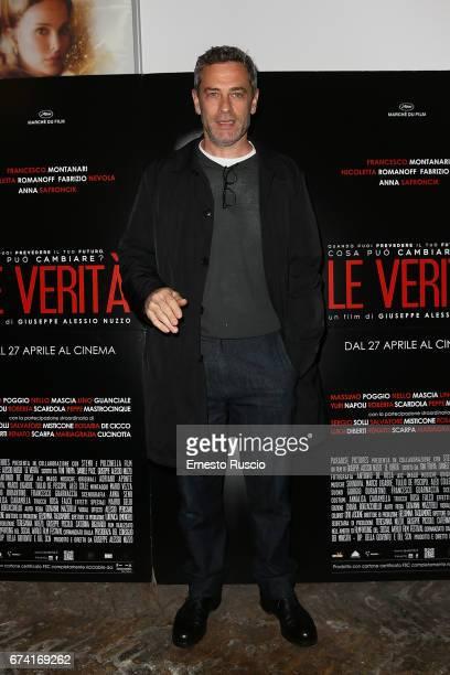 Massimo Poggio attends a photocall for 'Le Verita' on April 27 2017 in Rome Italy