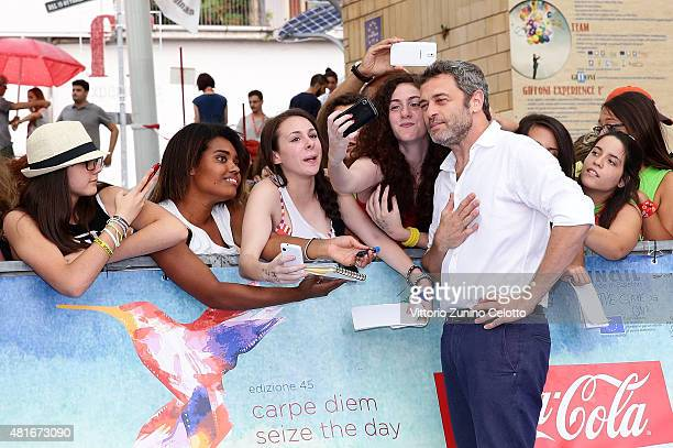 Massimo Poggio attends Giffoni Film Festival 2015 Day 7 blue carpet on July 23 2015 in Giffoni Valle Piana Italy