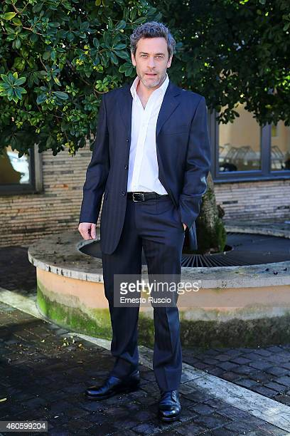Massimo Poggio attends the 'Solo Per Amore' TV movie photocall at Mediaset Studios on December 17 2014 in Rome Italy