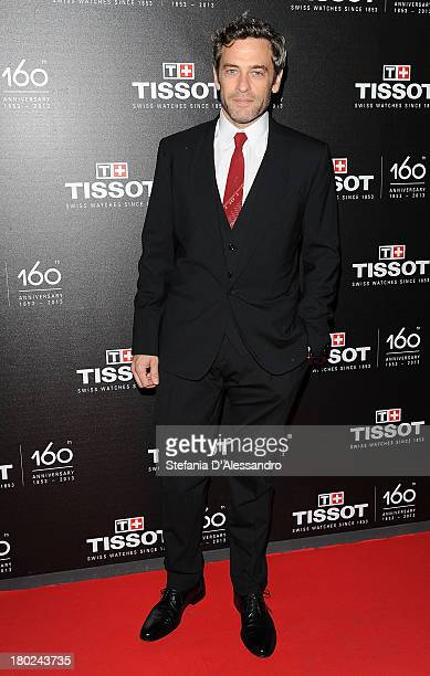 Massimo Poggio attends Tissot 160th Anniversary at Piazza Vetra on September 10 2013 in Milan Italy