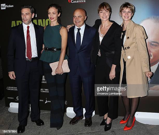 Massimo Poggio Francesca Cavallin Luca Zingaretti Stefania Rocca and Elena Radonicich attend the preview of film 'Adriano Olivetti La forza di un...