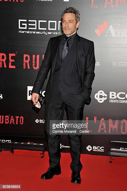 Massimo Poggio walks a red carpet for 'L'Amore Rubato' on November 25 2016 in Rome Italy