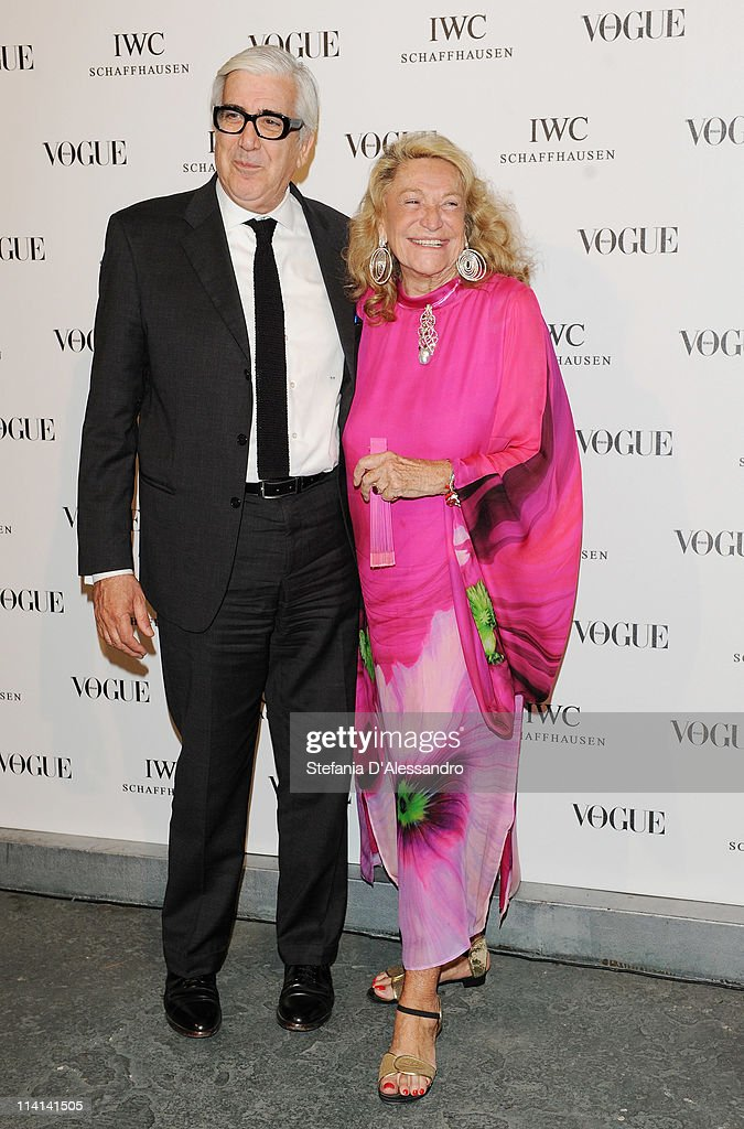 Massimo Ponzellini (L) and Marta Marzotto attend Vogue and IWC present 'Peter Lindbergh's Portofino' at 10 Corso Como on May 12, 2011 in Milan, Italy.