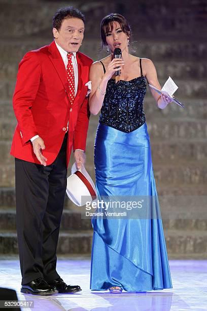 Massimo Ranieri and Emanuela Folliero attends 'Sfilata D' Amore e Moda' at Trepponti on June 17 2009 in Comacchio Italy