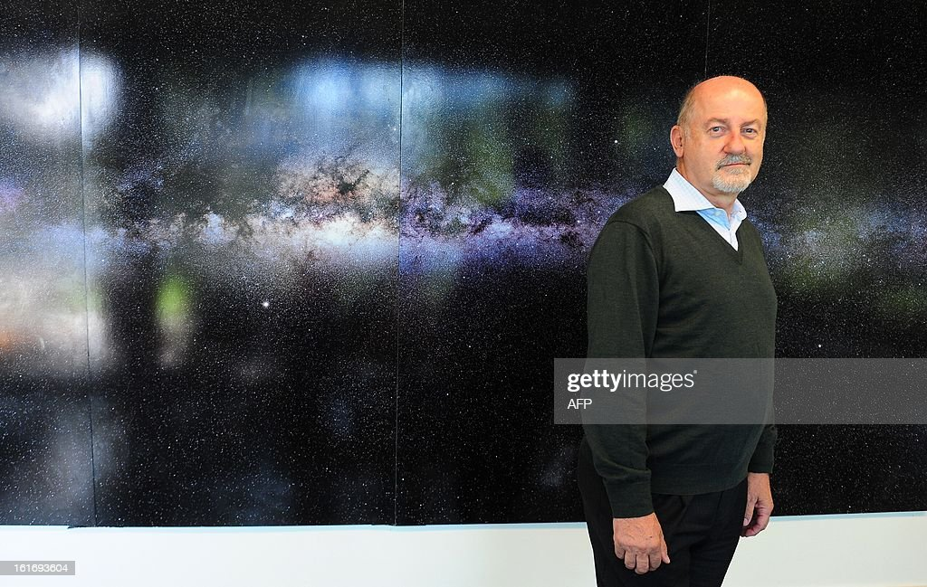 Massimo Tarenghi, ESO (European Southern Observatory) representative in Chile, poses after an interview with AFP in Santiago, on February 14, 2013. The project of building large telescopes, like the Extremely Large Telescope and the astronomic research are a way to fight the economic crisis in Europe, Tarenghi said. AFP PHOTO/Claudio SANTANA