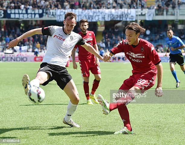 Massimo Volta of Cesena and Albin Ekdal of Cagliari in action during the Serie A match between AC Cesena and Cagliari Calcio at Dino Manuzzi Stadium...