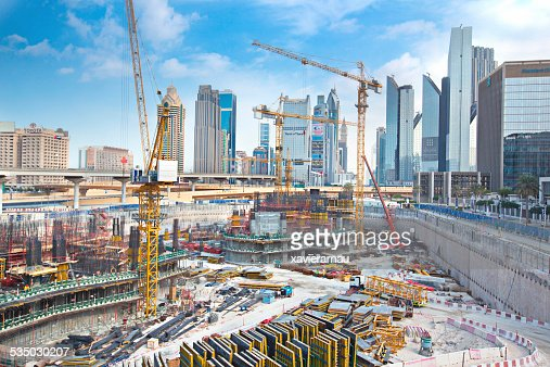 Massive construction in Dubai