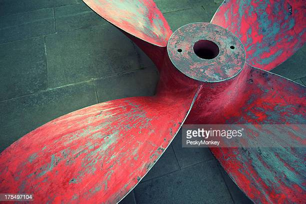 Massive Propeller Distressed Red