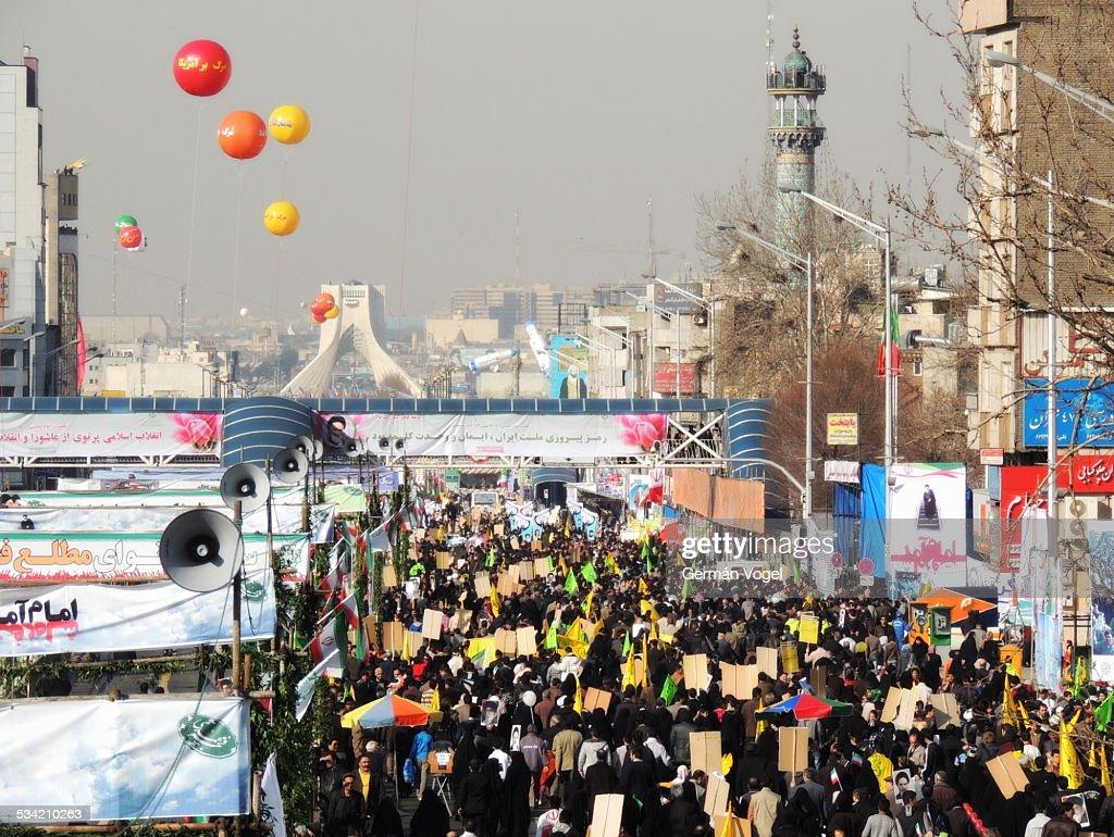 Massive rally Iran Islamic Revolution anniversary